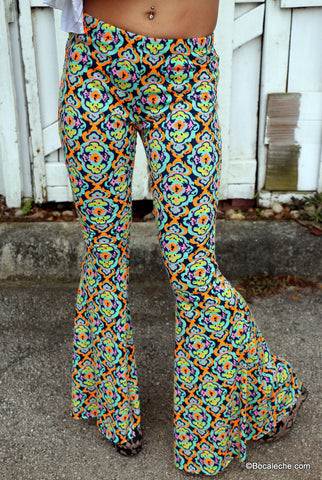 Kaleidoscope bell bottoms pants