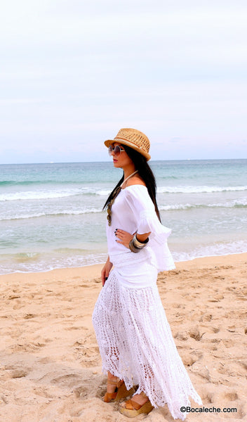 White Chic Maxi Skirt - BOCALECHE - 6