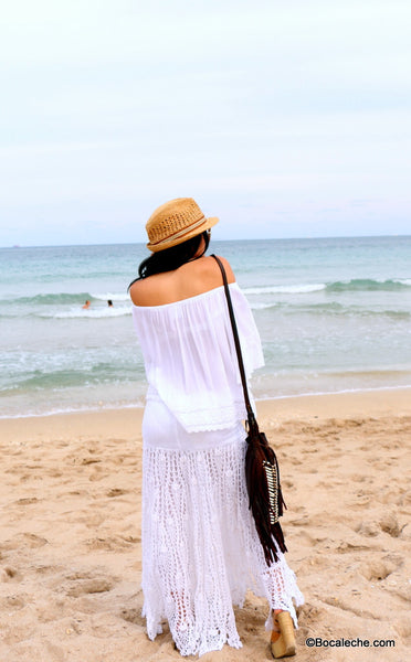 White Chic Maxi Skirt - BOCALECHE - 7