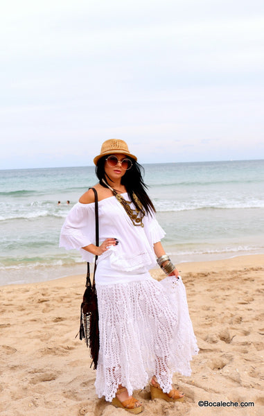 White Chic Maxi Skirt - BOCALECHE - 3
