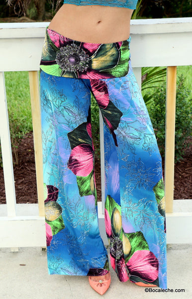 Fun flower Exuma pants - BOCALECHE - 2