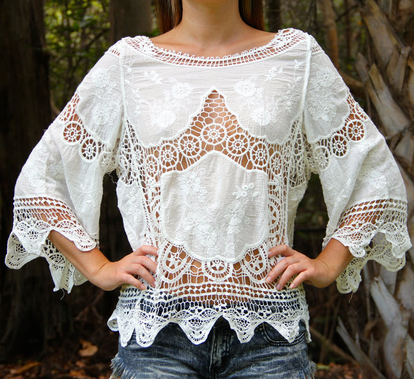 Doily Dolly top - BOCALECHE - 2