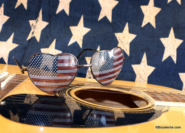 Heart of the Freedom Glasses - BOCALECHE