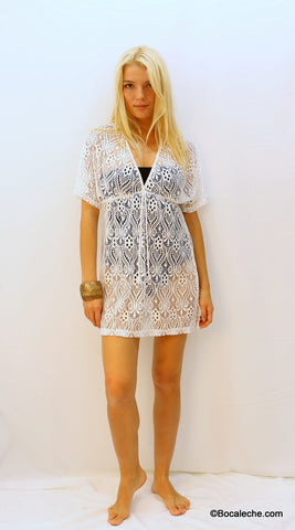 Milky Lace Cover-up