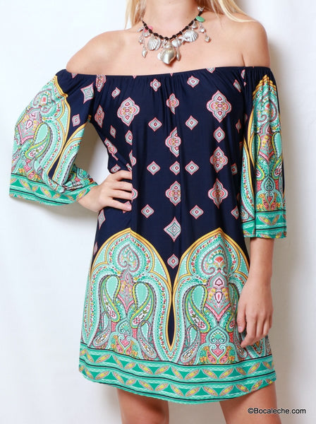 Green Aladdin Dress - BOCALECHE - 3