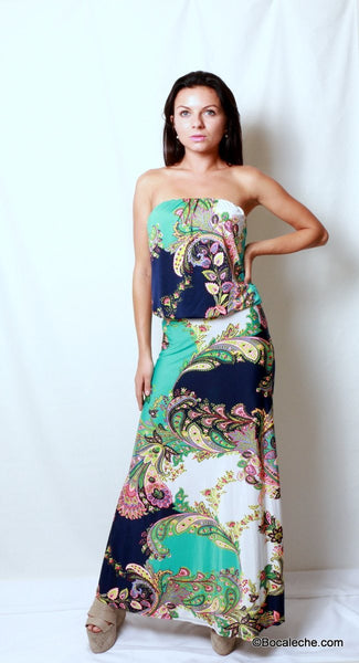 Island of Love Maxi Dress - BOCALECHE - 1