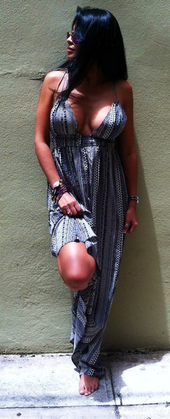 Lady Zebra Maxi Dress - BOCALECHE - 5