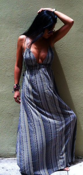 Lady Zebra Maxi Dress - BOCALECHE - 6