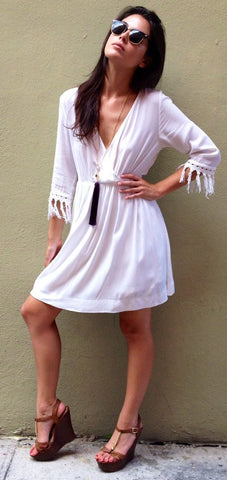 Lila White Dress