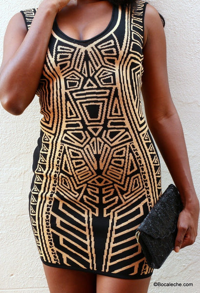 Shimmering Gold Bodycon - BOCALECHE - 2
