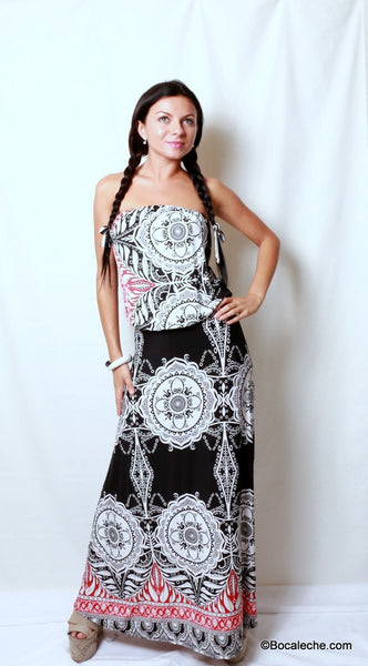 Metro Retro Maxi Dress - BOCALECHE - 1