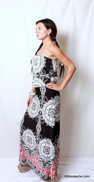 Metro Retro Maxi Dress - BOCALECHE - 3