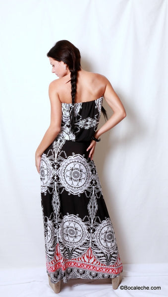 Metro Retro Maxi Dress - BOCALECHE - 4