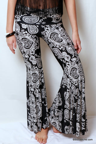 Black Heart Bell bottoms
