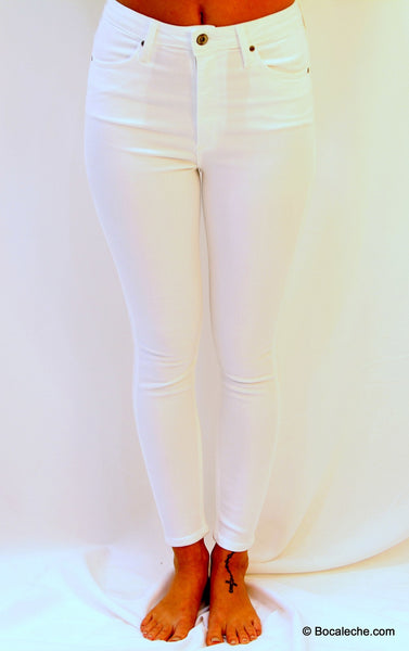 High White Waisted Pants - BOCALECHE - 2