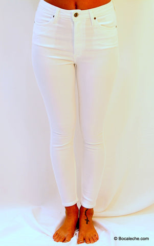 High White Waisted Pants