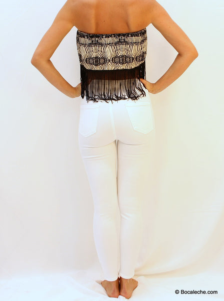 High White Waisted Pants - BOCALECHE - 5