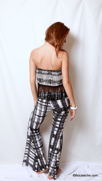 Perfect Lines Bell Bottom Pants - BOCALECHE - 5
