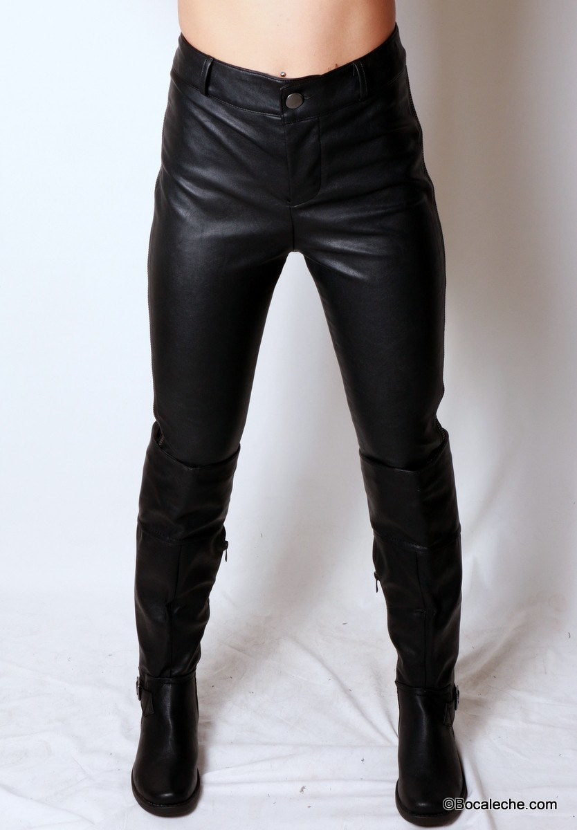 Pleather is Back Pants - BOCALECHE - 1