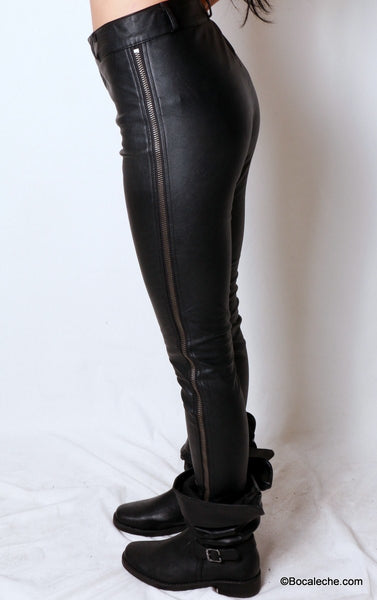 Pleather is Back Pants - BOCALECHE - 4
