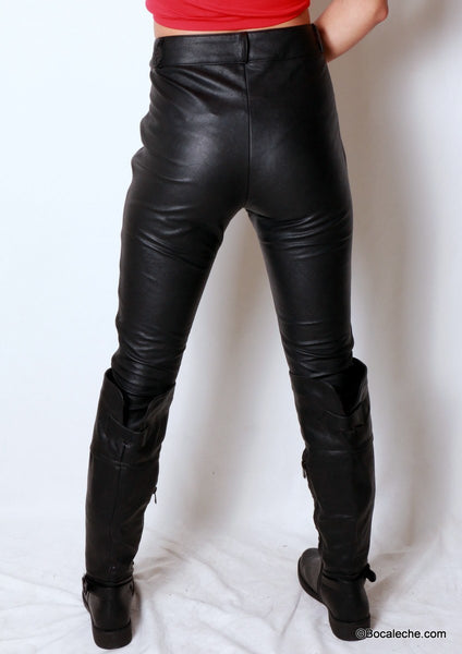 Pleather is Back Pants - BOCALECHE - 3