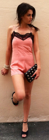 Miss Sugar Pink Romper
