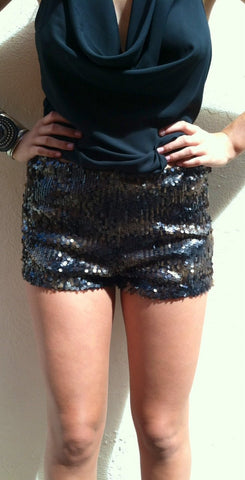 Dark Penny Sequin shorts