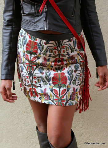 Exotic Needle Point Skirt