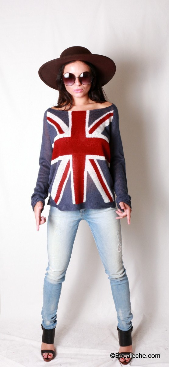 Love the Brit Sweater Top - BOCALECHE - 1