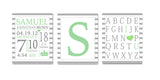 Personalized Birth Announcement Sets - Green