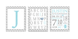 Personalized Birth Announcement Sets - Blue