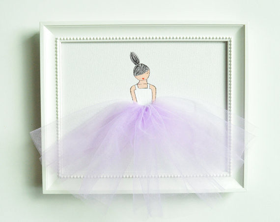 Lilac Tutu Painted Canvas