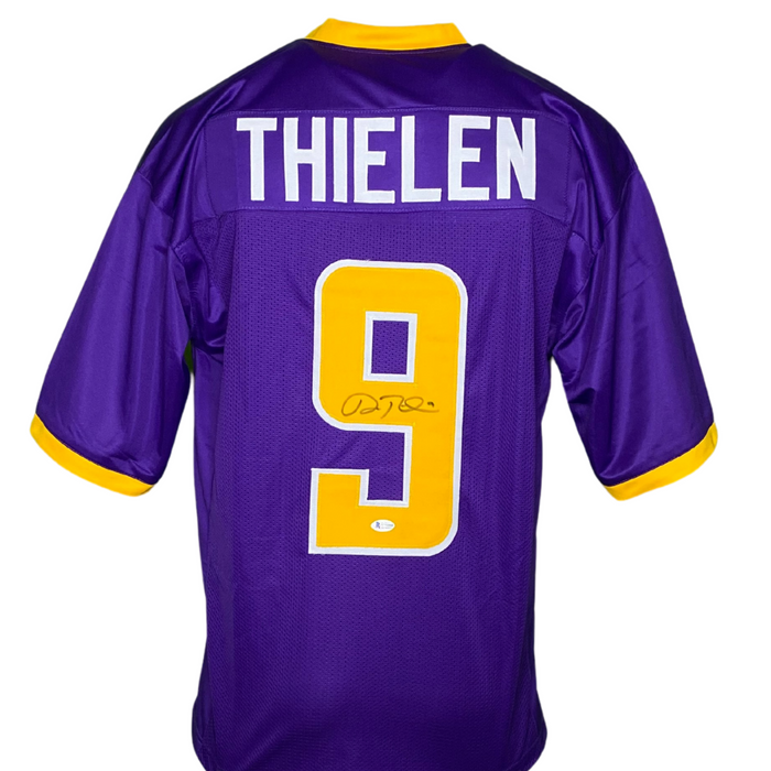Adam Thielen Signed Custom Purple College Football Jersey