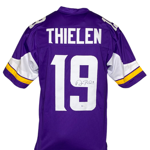 Adam Thielen Signed Custom Purple Football Jersey