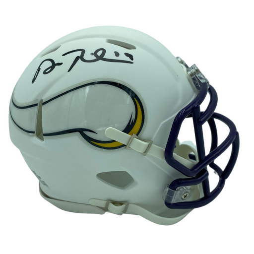 Adam Thielen Signed Minnesota Vikings Speed White Mini Helmet
