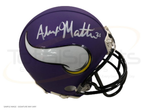 Alexander Mattison Signed Minnesota Vikings Mini Helmet