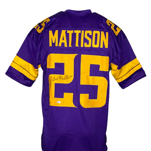 Alexander Mattison Signed Custom Holiday Football Jersey