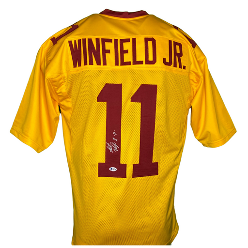 Antoine Winfield Jr Signed Custom Inverted Yellow College Football Jersey