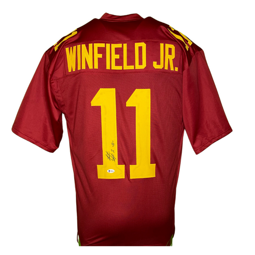 Antoine Winfield Jr Signed Custom Maroon College Football Jersey