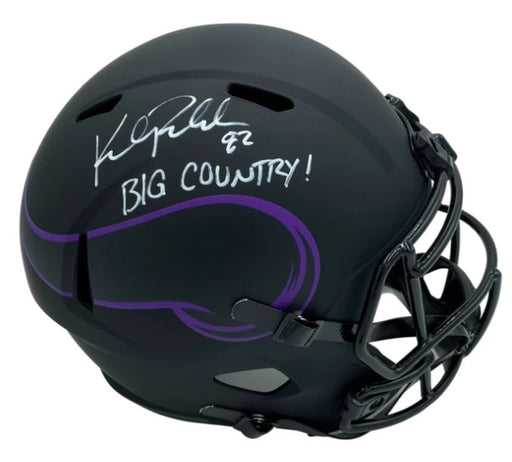 Kyle Rudolph Signed Minnesota Vikings Eclipse Authentic Helmet with Big Country