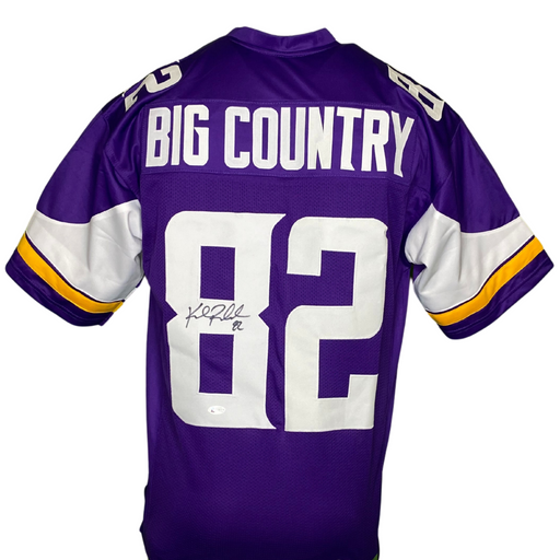 Kyle Rudolph Signed Custom Big Country Purple Football Jersey