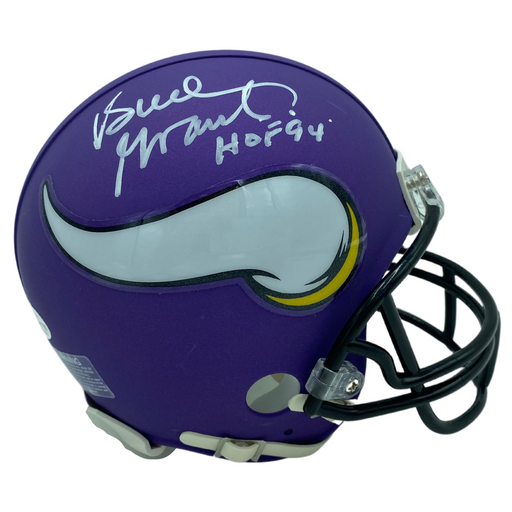 Bud Grant Signed Vikings Rep Mini Helmet w/ HOF 94