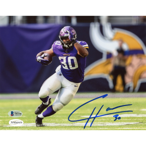 CJ Ham Signed Running 8x10 photo