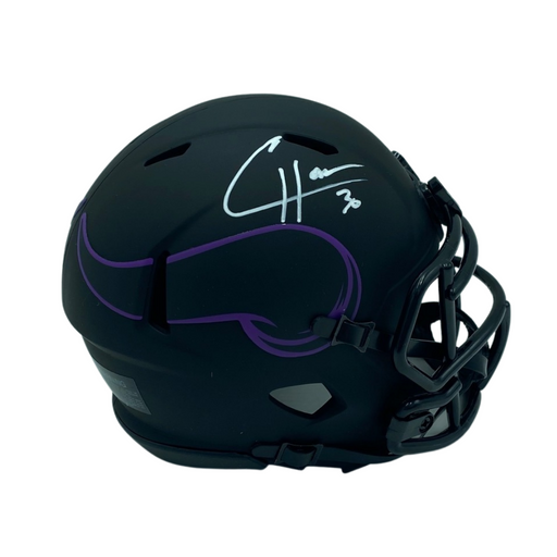 CJ Ham Signed Minnesota Vikings Eclipse Mini Helmet