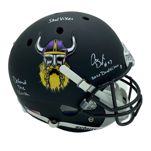 Cameron Dantzler Signed Viking Beard FS Helmet w/ 3 Inscriptions