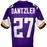 Cameron Dantzler Signed Custom Purple Football Jersey