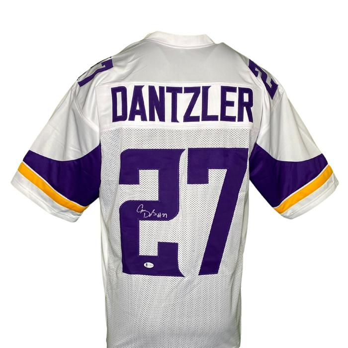 Cameron Dantzler Signed Custom White Football Jersey