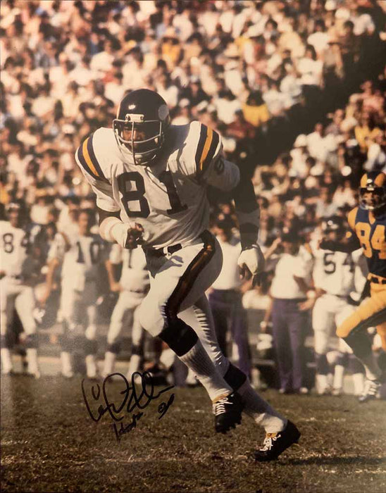 Carl Eller Autographed Running in White 11x14 Photo with HOF 04