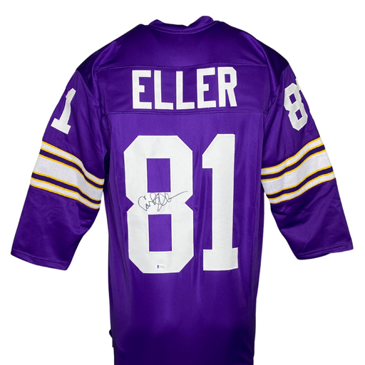 Carl Eller Signed Custom Purple Football Jersey