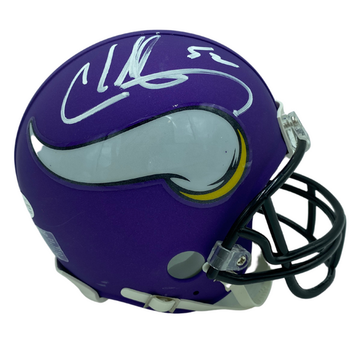 Chad Greenway Signed Minnesota Vikings Replica Mini Helmet